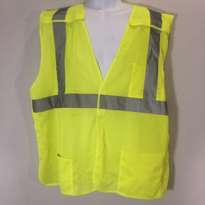 Other - SAFETY VEST ANSI CLASS 2 XL Reflective Yellow Mesh
